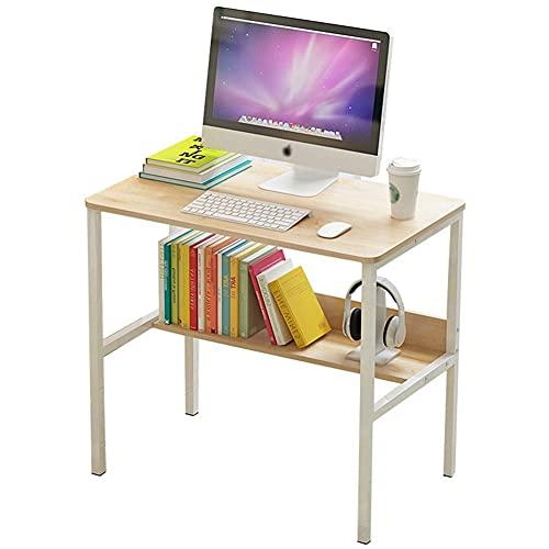 Escritorio moderno para computadora de estudio y escritura, mesa para computadora portátil, para oficina en casa, espacios pequeños, ahorro de espacio, fácil de montar