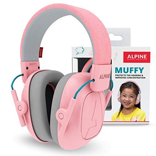 Alpine Muffy Earmuffs for Kids 3-16 Adjustable Noise Reduction Headphones - Pink