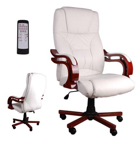 Lusso Giosedio BSL - Sillón de masaje elegante para oficina - Silla de piel cómoda - Silla para escritorio - Sillón para despacho, fabricado en piel sintética - Altura regulable, giratorio