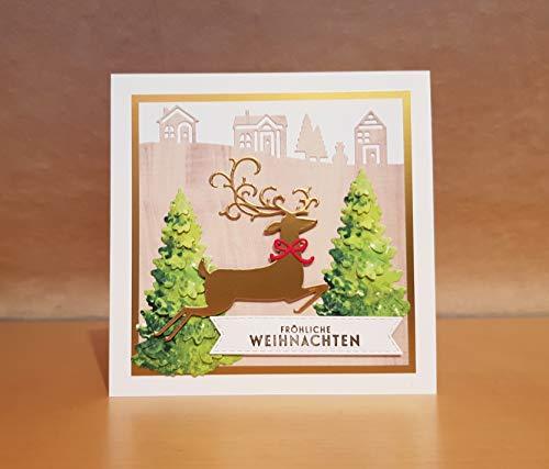 Weihnachtskarte, Glückwunschkarte, Grußkarte, Karte Weihnachten, Handarbeit, handgemacht, handmade
