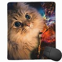 マウスパッド ゲーミング オフィス最適 かわいい 宇宙の猫 高級感 おしゃれ 防水 耐久性が良い 滑り止めゴム底 ゲーミングなど適用 マウスの精密度を上がる( 25*30*0.3cm )
