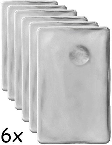 HomeTools.eu® - 6X Wärme-Kissen, Taschen-Wärmer, Gel-Kissen, Hand-Wärmer, Knick-Kissen, selbst-erwärmend, lang anhaltend, mehrfach verwendbar, 10 x 6.5 cm, transparent, 6er Set