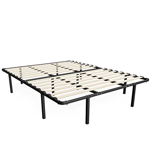 Sleep Master MyEuro Smartbase/Wooden Slats Mattress Foundation, Queen