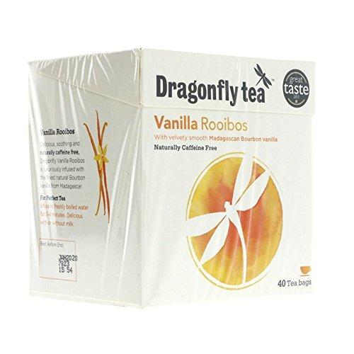 (2 Pack) - Dragonfly Tea - Vanilla Rooibos Tea | 40 Bag | 2 PACK BUNDLE
