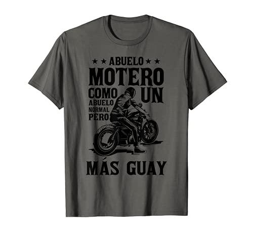 Hombre Regalo Abuelo Motero Motociclismo Abuelos guays Van En Moto Camiseta