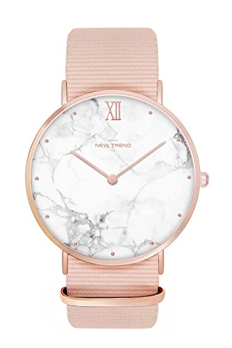 New Trend - Love for Accessories Damen Uhr analog Quarzwerk mit Nylon Armband 4U-XJQY-T7ZL