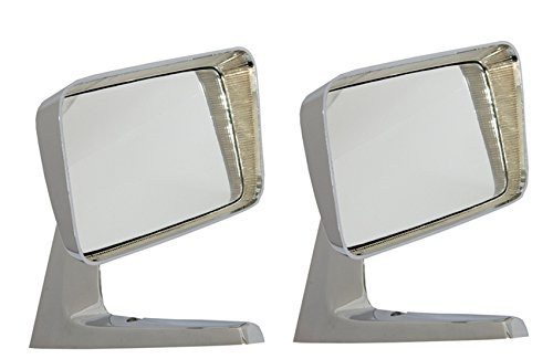 Motamec Classic Car 09 Espejo retrovisor lateral x2 acero cromado cuadrado estilo americano