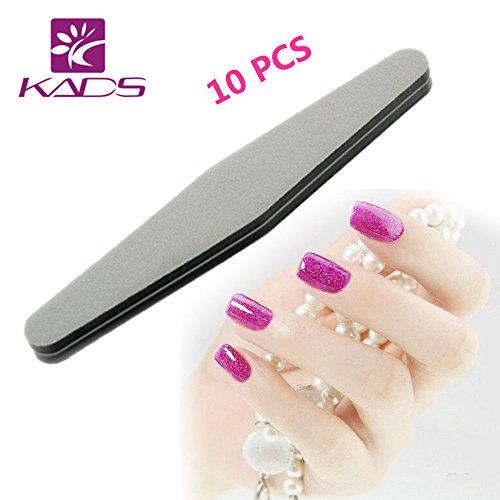 KADS femmes 100/180 Nail Art Fille de ponçage Fichiers polonais Acrylique Bloquer tampons manucure Outils Blanc