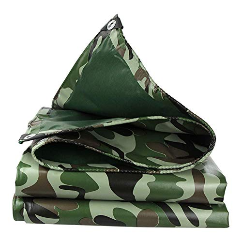 ZHUAN Tarpaulin Waterproof Heavy Duty Sunscreen Rain and Snow Protection Pool Towel Aluminum Eyelet for Garden Furniture Outdoor Camping Shed, 13 Sizes (Color : Green, Size : 3.8x4.8M)