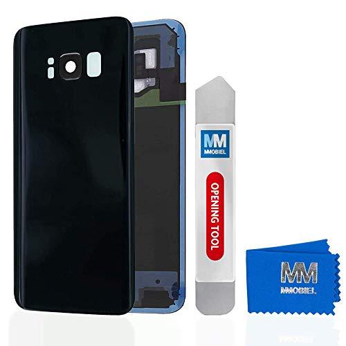 MMOBIEL Tapa Bateria/Carcasa Trasera con Lente Cámara Compatible con Samsung S8 Plus G955 6.2 Pulg (Negro Medianoche)