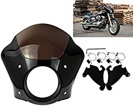 Rebacker Black Headlight Gauntlet Fairing With Trigger Lock Mount 39 mm For Harley Sportster 1200 883