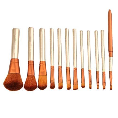 Brochas de maquillaje Cosméticos Juego de brochas Fundación Blending Blush Eyeliner Polvo Sintético Blanco 12PCS Productos del Hogar