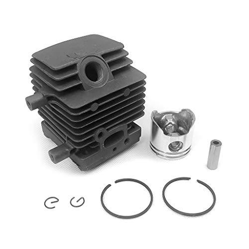 Buwei Kit de pistón de Cilindro para Stihl FS55 FS45 BR45 HL45 Recortadora 4140 020 1202 Accesorios de Motosierra de Gasolina