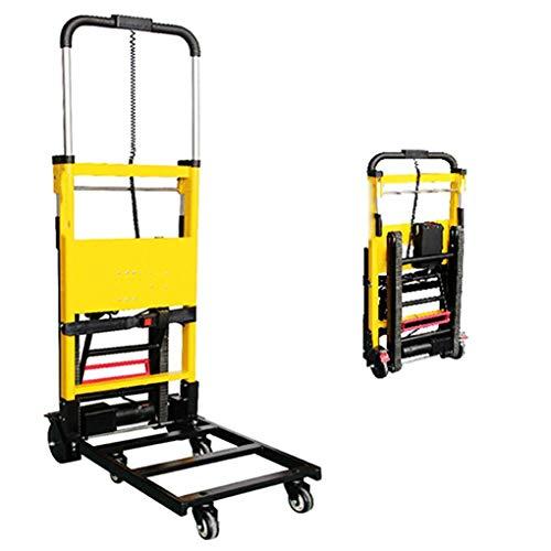 XH-Tool Carro eléctrico para Subir escaleras, Interruptor de manija - Batería de Litio extraíble de 20V - Motor Potente de 120W - Rueda Universal - Capacidad de 200 Kg