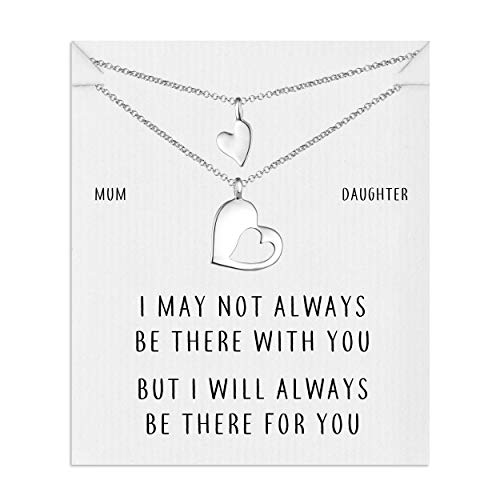 Philip Jones Mother Daughter Piece of My Heart Necklace Set