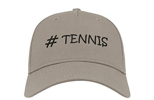 Sconosciuto Hashtag Tennis Sport Athlete Ricamato Curvo Visor Unisex Traspirante Berretto Cappello Cappellino da Baseball cap Fullcap Confortevole Grigio