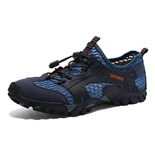 DUORO Damen Herren Trekking Wanderschuhe Atmungsaktiv Outdoor Fitnessschuhe Mesh Wasserschuhe Sport Laufen Klettern Sandalen 35-47 (45 EU, Z-Blau)
