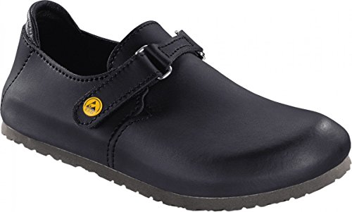 Birkenstock 583160-39 LINZ Chaussure Fine Antistatique en Cuir Naturel Noir Taille 39