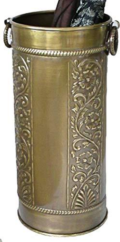 Solid Brass Umbrella Stand Scrollwork Design