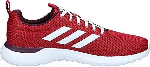 adidas Mens Lite Racer CLN Sneaker, Active Maroon/Cloud White/Maroon, 45 1/3 EU