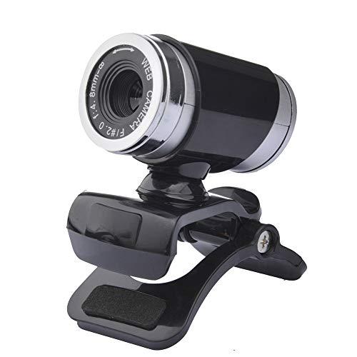 XZYP A860 USB De Escritorio Y PortáTil Webcam, Mini Plug and Play De VíDeo De Llamadas De La CáMara De La Computadora, MicróFono Incorporado, Clip Giratorio Flexible,Black