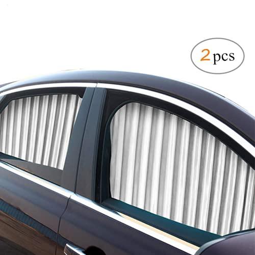 ZATOOTO Parasol Ventana Coche - Cortinas Coche Lateral Magnetica, Cortinillas Boquear los Rayos UV y el Calor, Proporcionar Privacidad, Plata