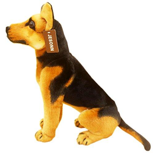 JESONN Lifelike Stuffed Animals Toys Sitting Dog Plush (Shepherd, 12 Inches)