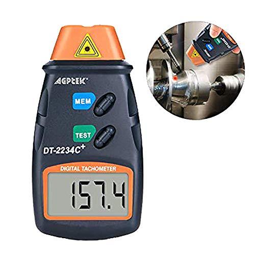 AGPtek® Profesional Digital Laser Foto Tacómetro Non Contact RPM Tacómetro láser