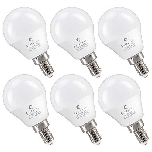Sailstar E12 LED Bulb 6-Watt (60-Watt Replacement), Soft White 2700K, Non-Dimmable, G14 Candelabra Base LED Light Bulb | 6-Pack
