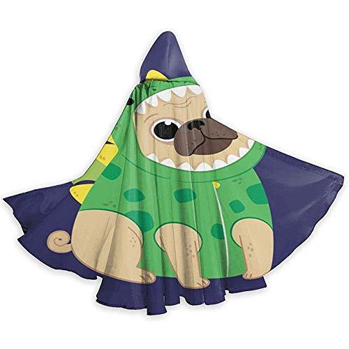 Niet van toepassing volwassen tuniek capuchon, Halloween Cape mantel, rol spelen jurk omhoog, Cosplay kostuum, Cartoon Puppy in een groene dinosaurus kostuum duivel heks tovenaar cape, vampier kostuum, partij capuchon mantel