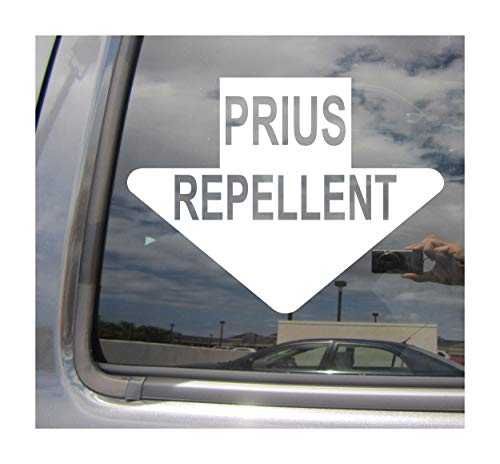 Right Now Decals Prius Repellent Funny Diesel Car Bumper Exhaust - Funny Humor - Cars Trucks Moped Helmet Hard Hat Auto Automotive Craft Laptop Vinyl Decal Store Window Wall Sticker 02045