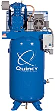 product image for Quincy QT-5 Splash Lubricated Reciprocating Air Compressor - 5 HP, 208 Volt, 3 Phase, 80 Gallon Vertical, Model Number 253DS80VCB20