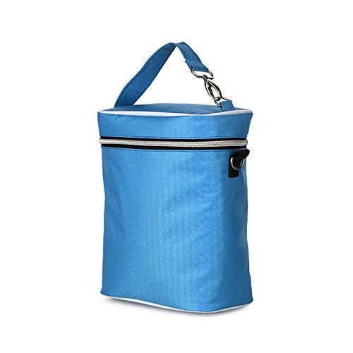 Bolsa de Almacenamiento a Prueba de Agua Multifuncional, Bolsa de Botella de Cochecito de bebé, Bolsa de Almacenamiento de Leche Materna Grande, Bolsa de biberones (Color : Blue)