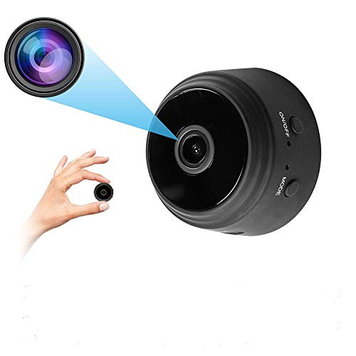 Mini WiFi Spy Hidden Camera,Portable Wireless HD 1080P Small Nanny Cop IP Cam Home Security Motion Detection Nigh Vision Remote View Video Recorder