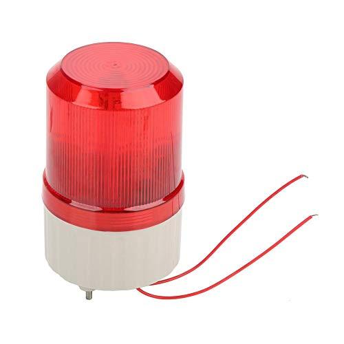 Diyeeni Warnleuchte, 220V 120 Dezibel Superhelle LED-Warnleuchte mit akustooptischem Alarm, Rundumleuchte LED-Notblitz für Werkstatt, Kranturm, Verkehrsbau (rot)