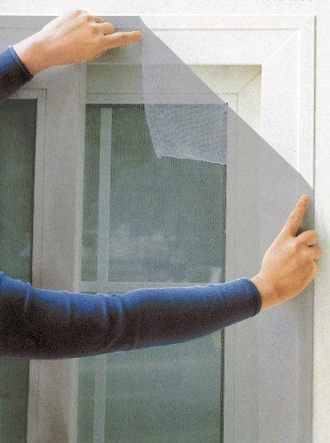 BURI Fliegengitter für Fenster 140x140cm grau Insektenschutz Insektennetz Gitter Netz