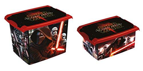Lot de 2 Fashion Box Disney Star Wars 20L + 10L Boîte de rangement Boîte à jouets