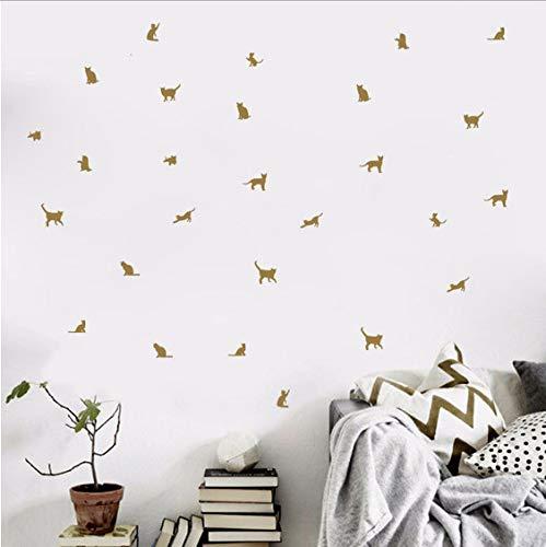 Stickers muraux animaux de compagnie mignons autocollants 21 * 29cm de décor de chambre à coucher de chambre d'enfant