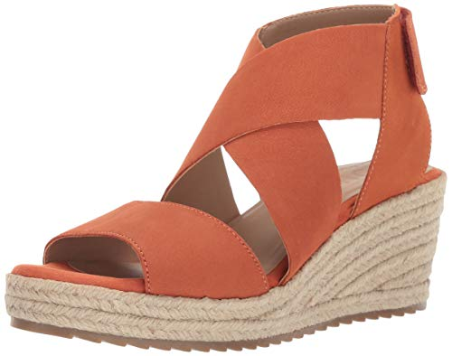 SOUL Naturalizer Women's OSHAY Sandal, ORANGE LEATHER, 11 M covid 19 (Orange Leather Footwear coronavirus)