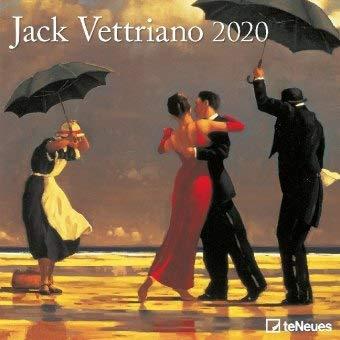 Jack Vettriano Broschurkalender - Kalender 2020 - teNeues-Verlag - Wandkalender mit Platz für Eintragungen - 30 cm x 30 cm (offen 30 cm x 60 cm)