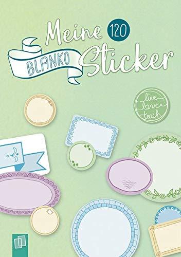 """Meine 120 Blanko-Sticker """"live – love – teach"""": Ein A5-Stickerheft"""