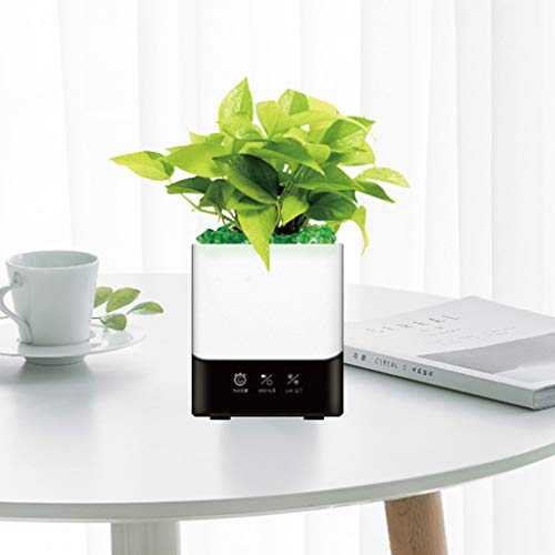 Smart Music Flower, Bluetooth Flower Pot Speaker, Smart Plant Pot, Music Flower Pot Alarm Clock, Night Light Gift Garden Pot, Charge By Usb (Plants Not Included),White