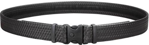 Uncle Mike's Law Enforcement Mirage Basketweave Ultra Duty Belt with Hook and Loop Lining (Medium, Black)