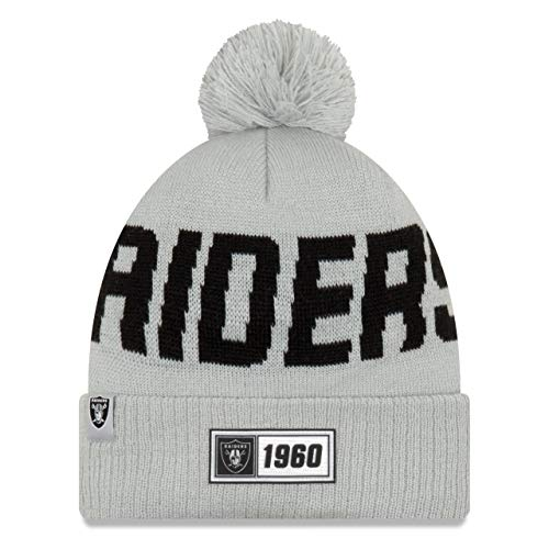 1X Oakland Raiders official licened Knit Beanie Black