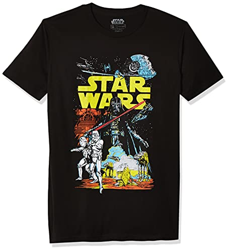 Star Wars Men's Rebel Classic Graphic T-Shirt, Black, L