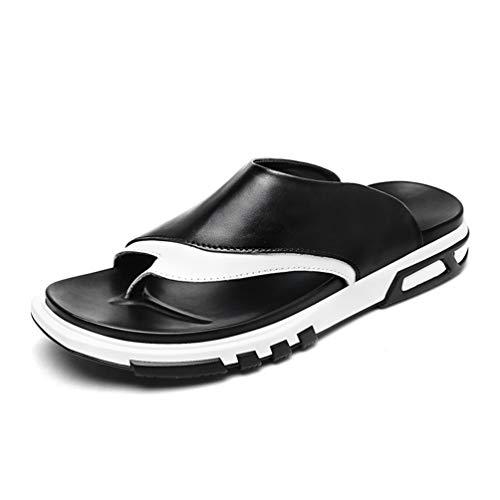 Männer Flip Flops Casual Lederschuhe Sommer Mode Outdoor Strand Sandalen Herren Hausschuhe