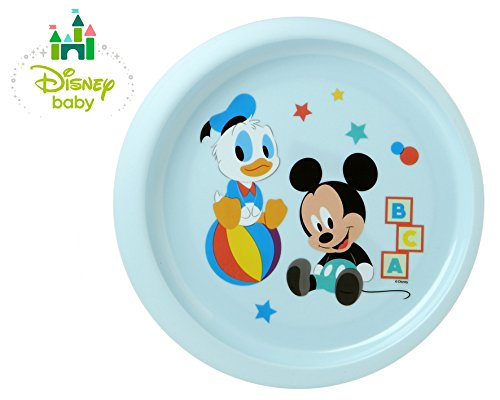 Kiokids Mickey Baby Assiette Mixte Bleu/Blanc