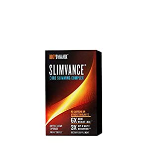 BodyDynamix Slimvance Core Slimming Complex | Core Slimming Complex, 30 Day Supply, Stimulant Free Weight Loss Support | 60 Capsules