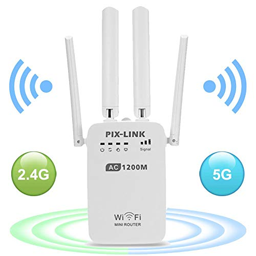 WiFi Range Extender, AC1200 Dual Band WiFi Internet Signal Boater Repetidor inalámbrico...