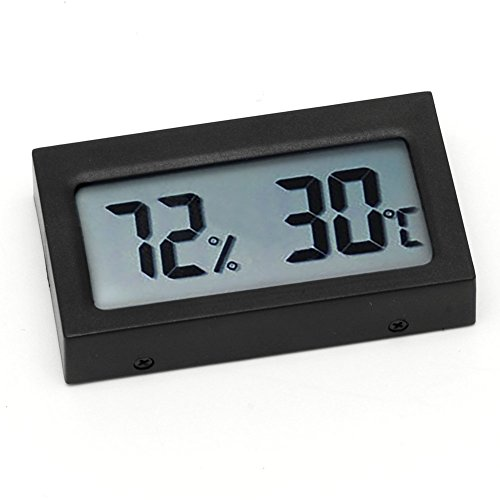 Yushu Termómetro digital LCD de tamaño pequeño higrómetro de humedad medidor de temperatura TH-4 termómetro húmedo negro herramienta de análisis de instrumentos higrómetro